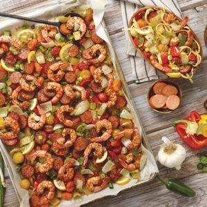 Spicy Sheet Pan Roasted Jambalaya