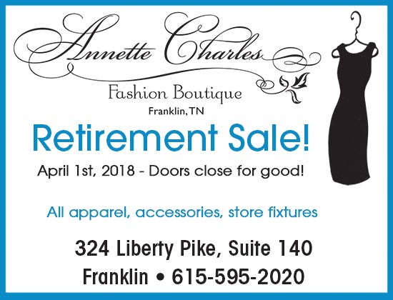 Annette Charles store closing