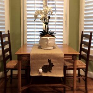 Shabby Chic Spring Burlap Table Runner